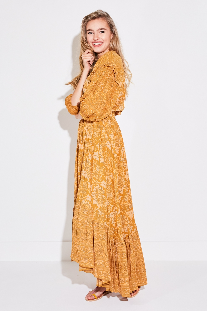 SPELL & THE GYPSY COLLECTIVE LIONESS GOWN IN CARAMEL Dresses
