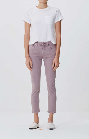 Citizens of Humanity Elsa Mid Rise Slim Fit Crop in Thistle Pants