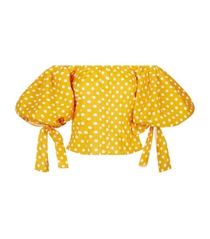 Caroline Constas Polka Dotted Top Sale Tops