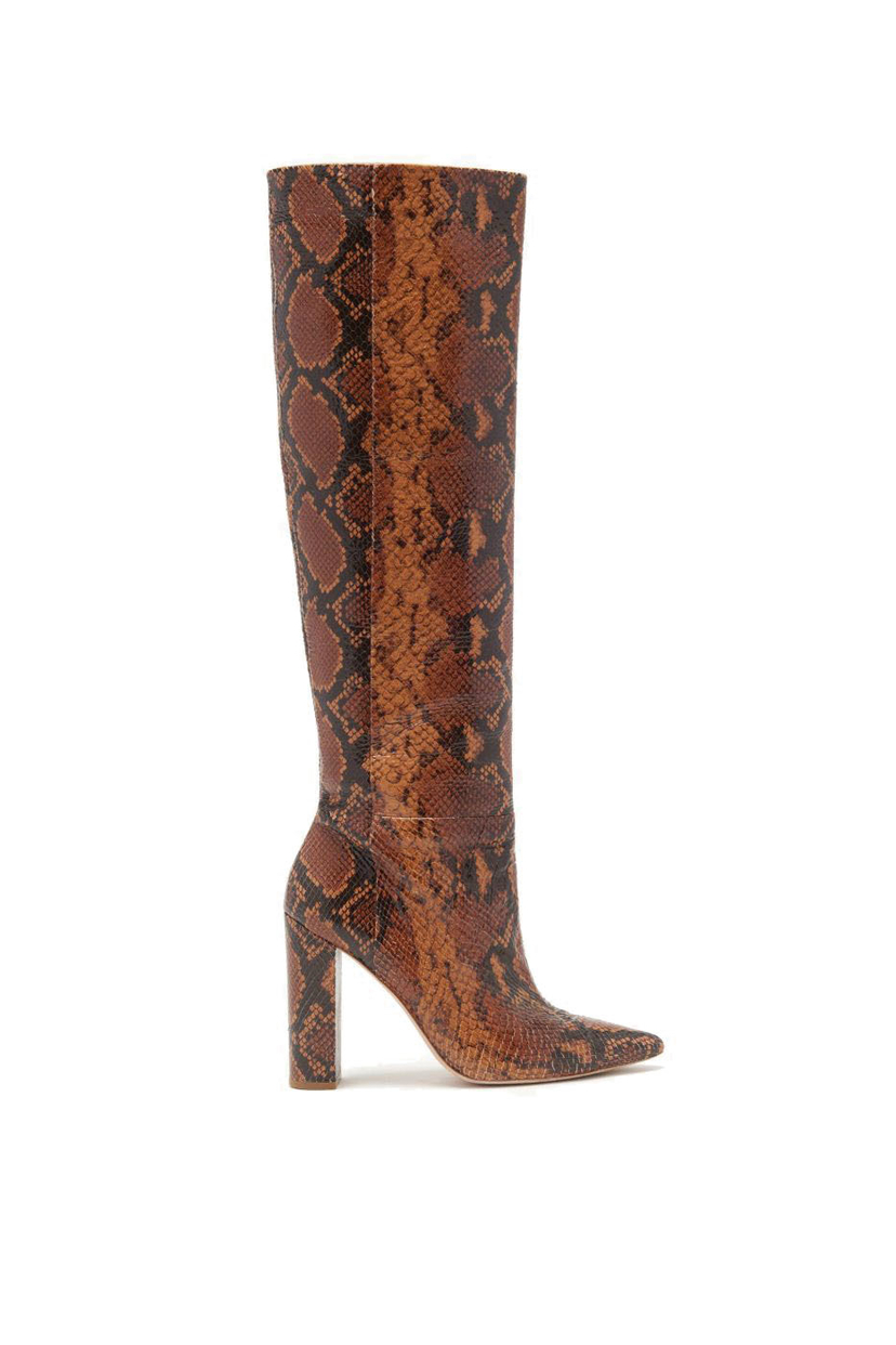 Ulla Johnson Jerri Python Boot in Umber Shoes