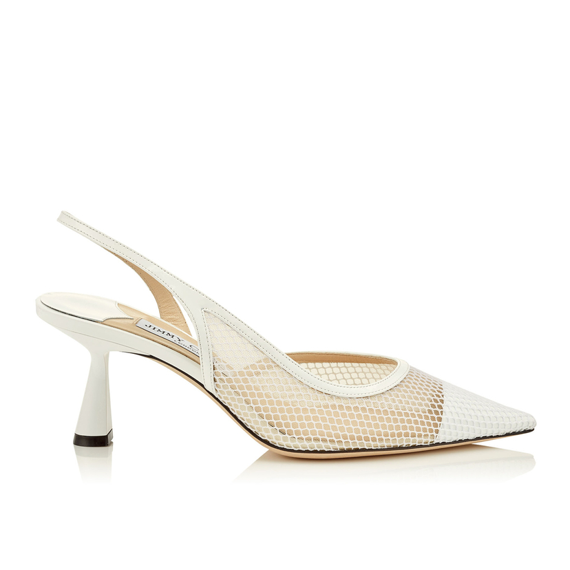 Jimmy Choo Fetto 65 Mesh Pointed Toe Pump Shoes