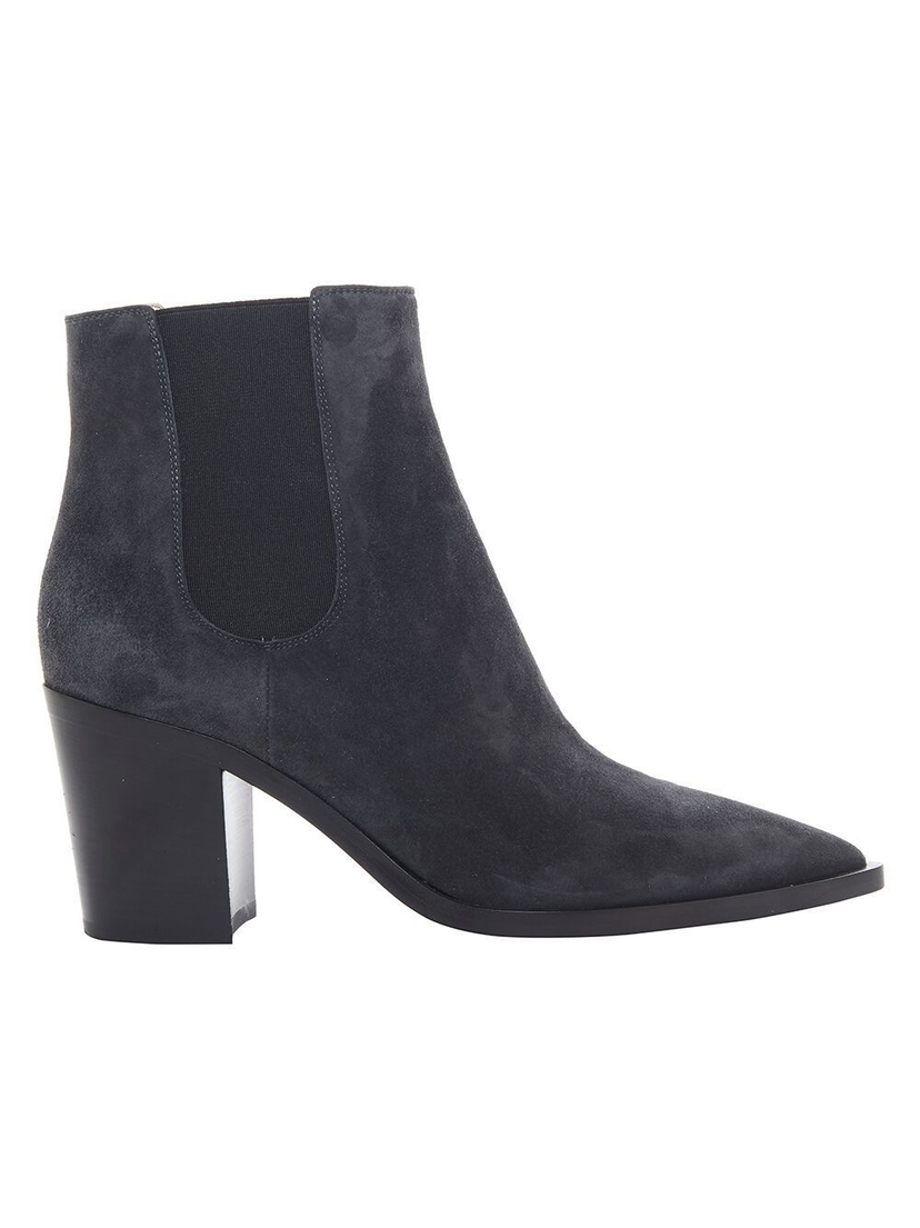 Gianvito Rossi Pointed Toe Cowboy Bootie Shoes