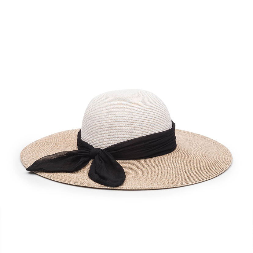 Eugenia Kim Honey Hat in Bone/Sand with Black Scarf Accessories