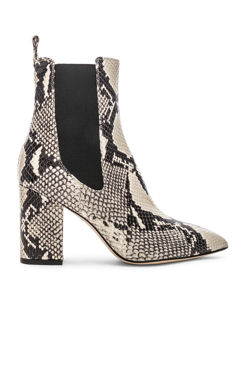 Paris Texas Snake Print Ankle Boot - Natural Shoes