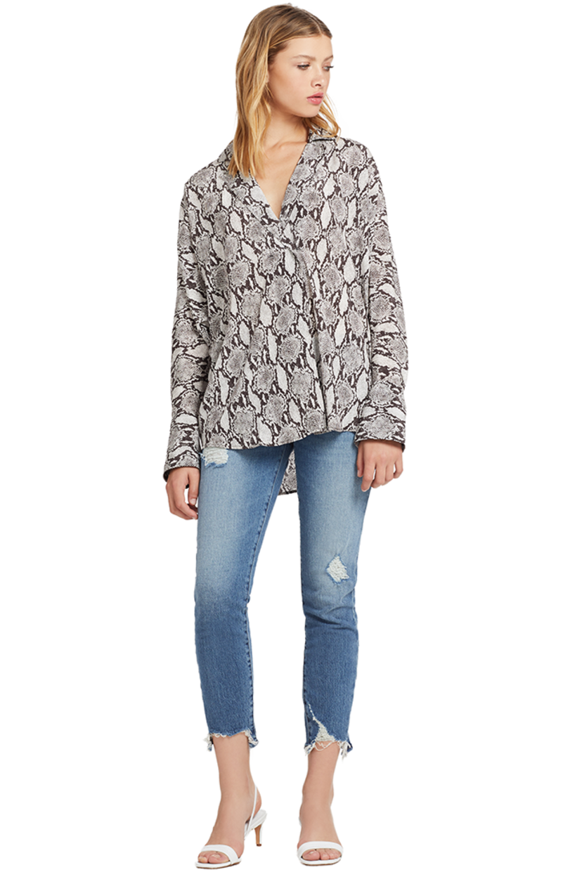 A.L.C. Noreen Top (Snake Print) Tops
