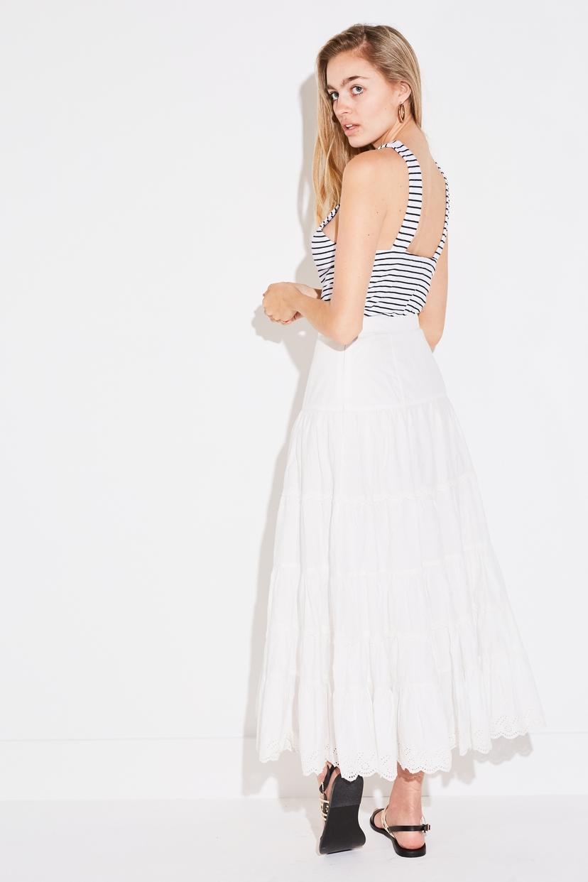 Ulla Johnson FLEET SKIRT IN BLANC Skirts