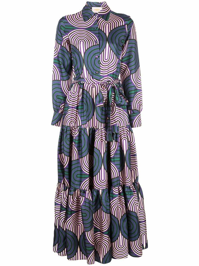 La Double J Bellini Silk Midi Dress Dresses