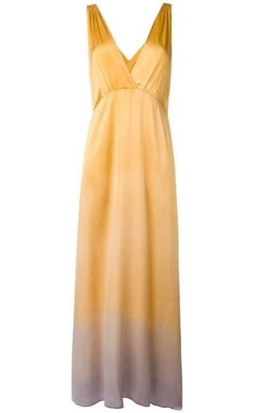 Raquel Allegra Raquel Allegra Golden Sun Charmeuse Kate Slip Dress Dresses