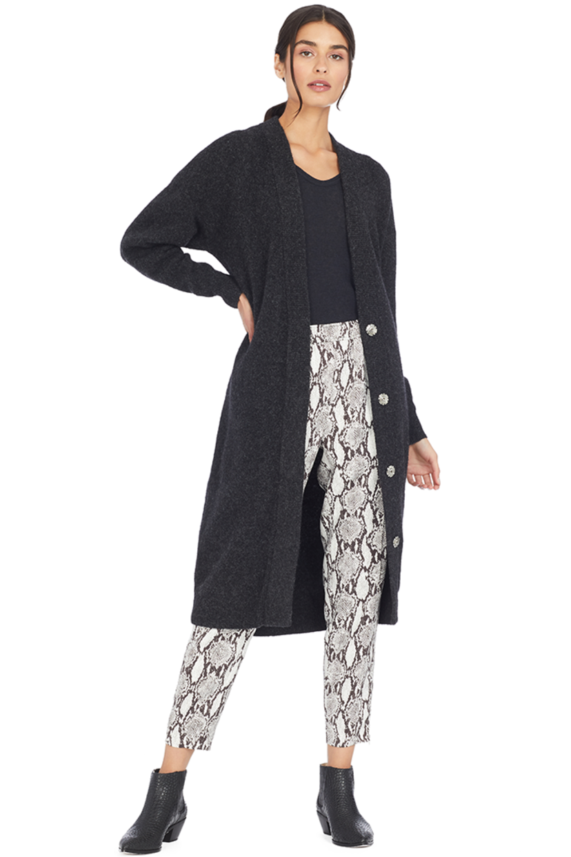 IRO Ashland Cardigan (Anthracite) Tops