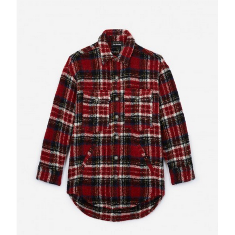 The Kooples French Checkered Jacket Outerwear