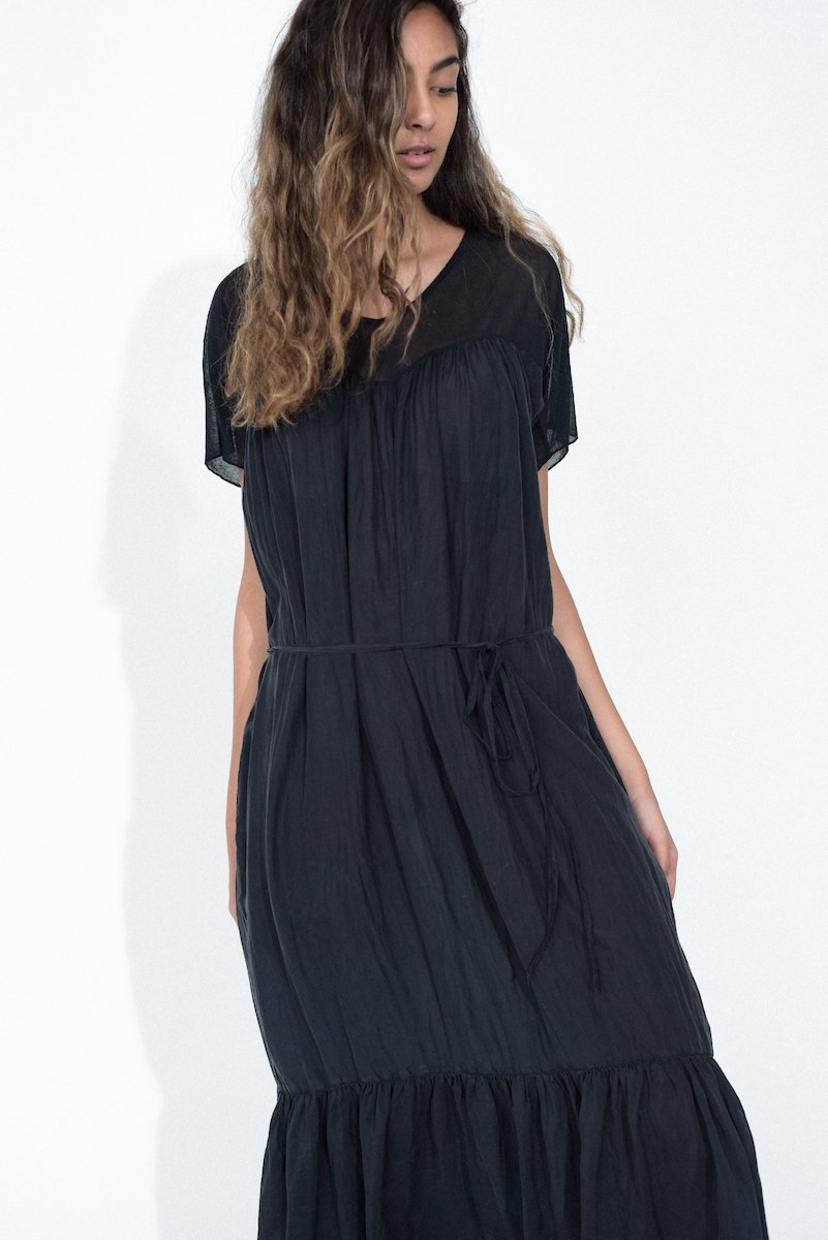 Raquel Allegra Mesh Medley Sweetheart Dress - Black Dresses