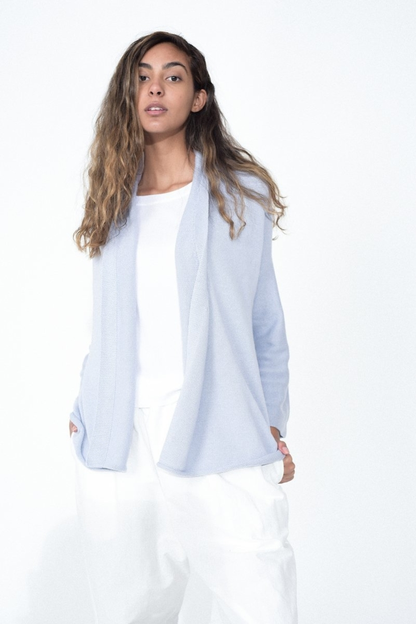 Lauren Manoogian Slouch Cardigan in Spa Blue Sale Tops