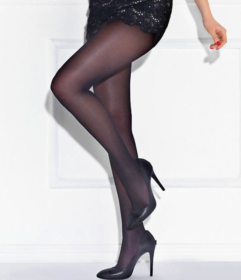 Le Bourget Perfect Chic Nearly Black Tights by Le Bourget