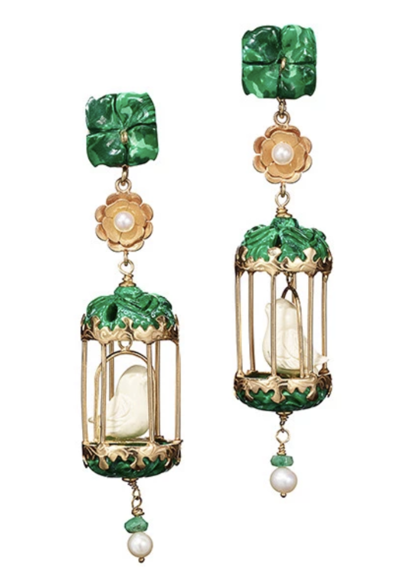 Of Rare Origin Malachite Classic Aviary Earrings Jewelry