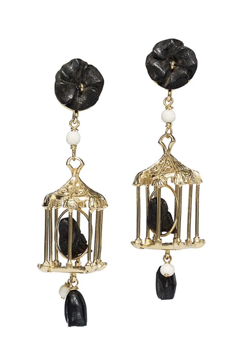 Of Rare Origin Black Pagoda Earrings Jewelry