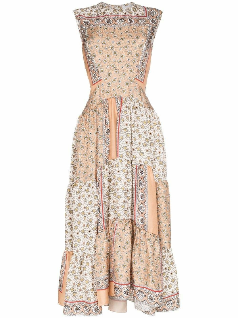 Chloé Sleeveless Bandana Print Maxi Dress Dresses