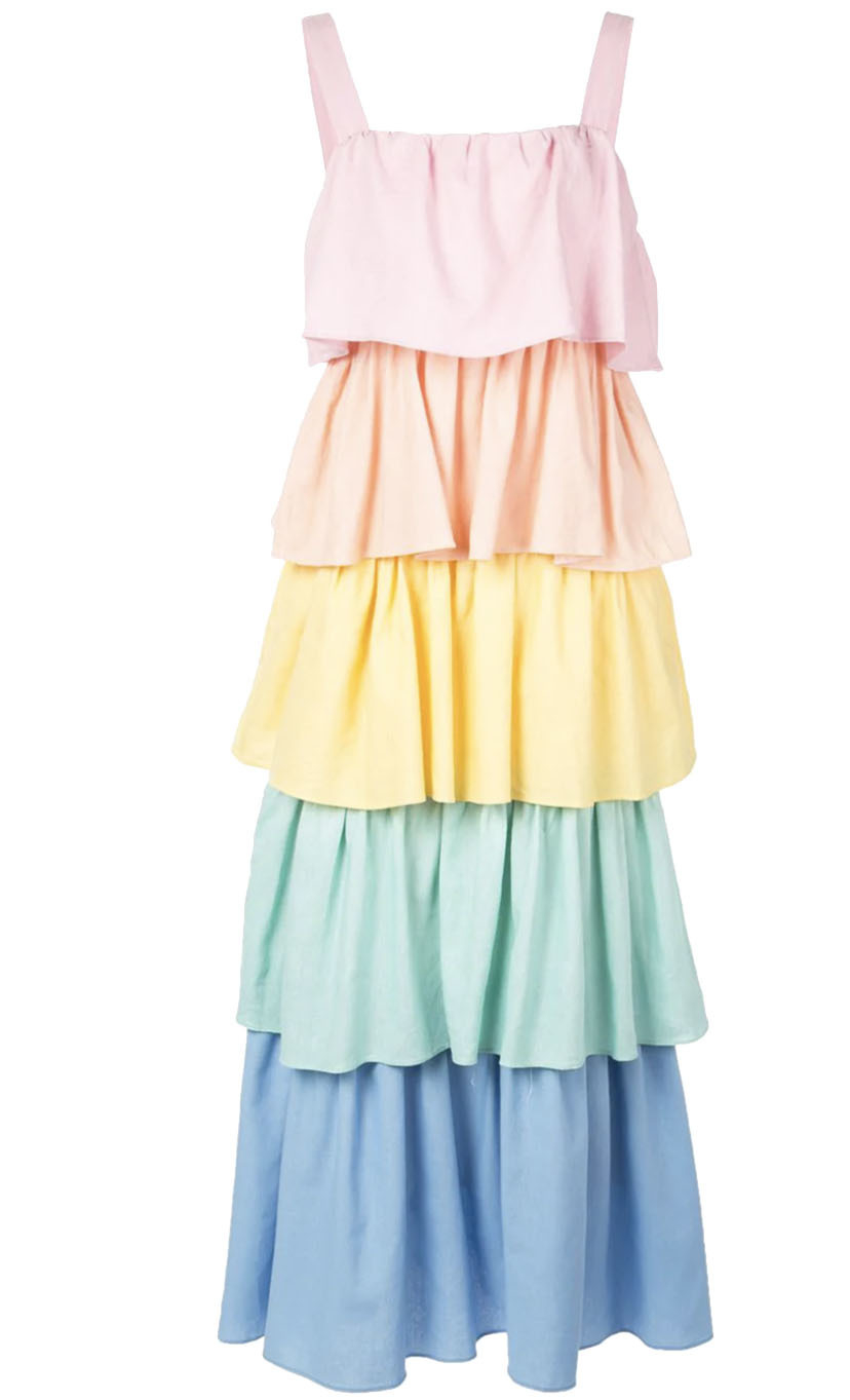 Olivia Rubin Tiered Rainbow Dress Dresses Sale