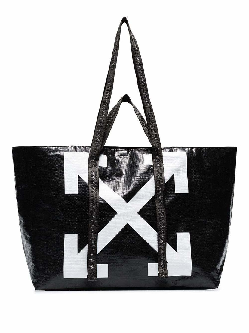 Off-White New Commercial Logo Tote Bags