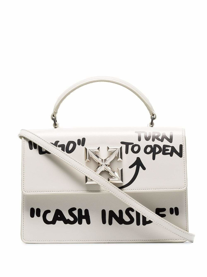 Off-White Jitney 1.4 Cash Inside Graffiti Bag Bags