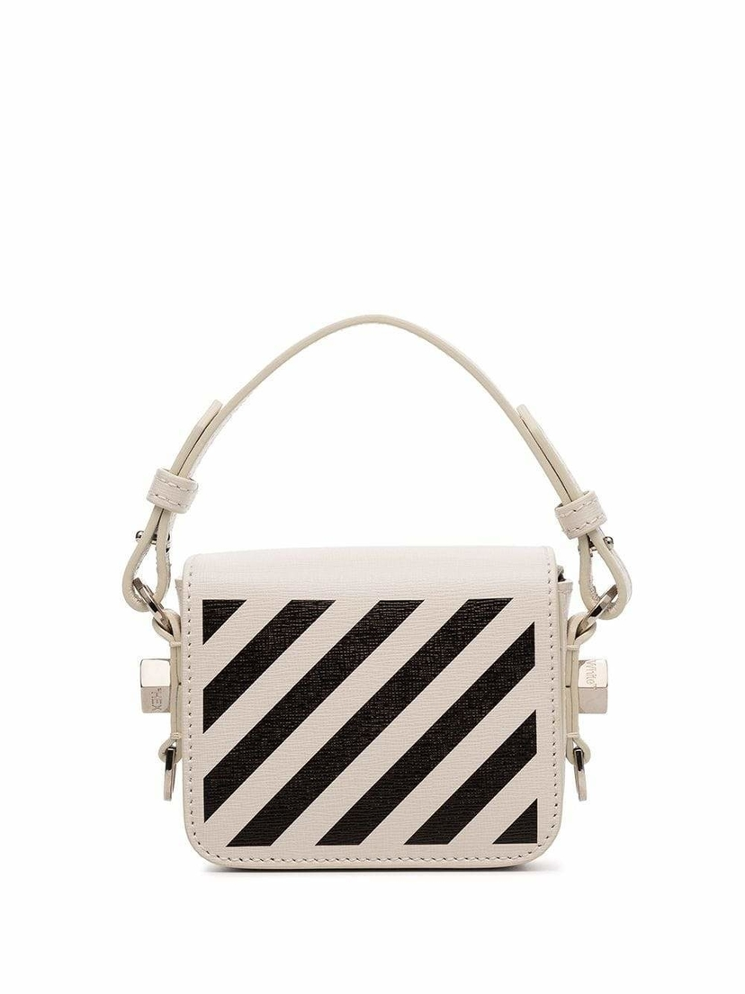 Off-White Baby Flap Diagonal Stripe Mini Bag Bags