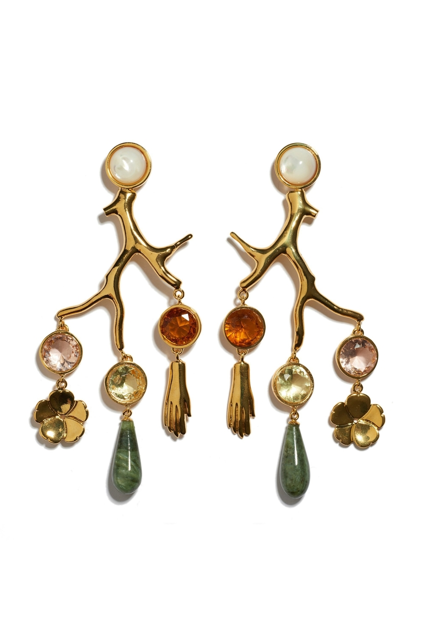 Lizzie Fortunato Relic Chandelier Earrings Jewelry