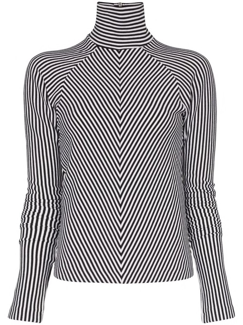 Haider Ackermann Herringbone Thin Knit Turtleneck Sale Tops