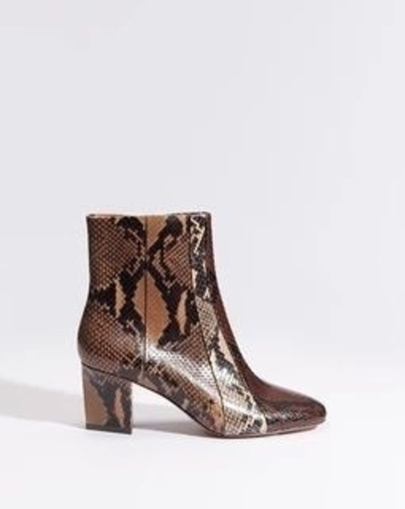 Veronica Beard Felix Embossed Snake Boot Shoes
