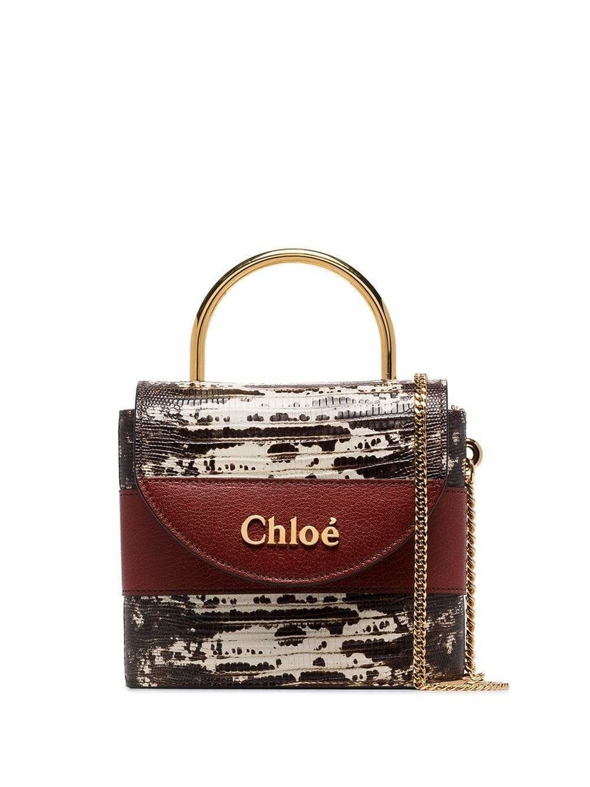 Chloé Snake Mini Gold Top Handle Bag Bags