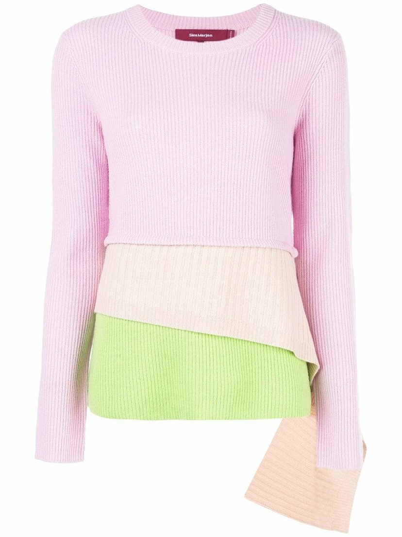 Sies Marjan Sae Crew Neck Tier Sweater Sale Tops