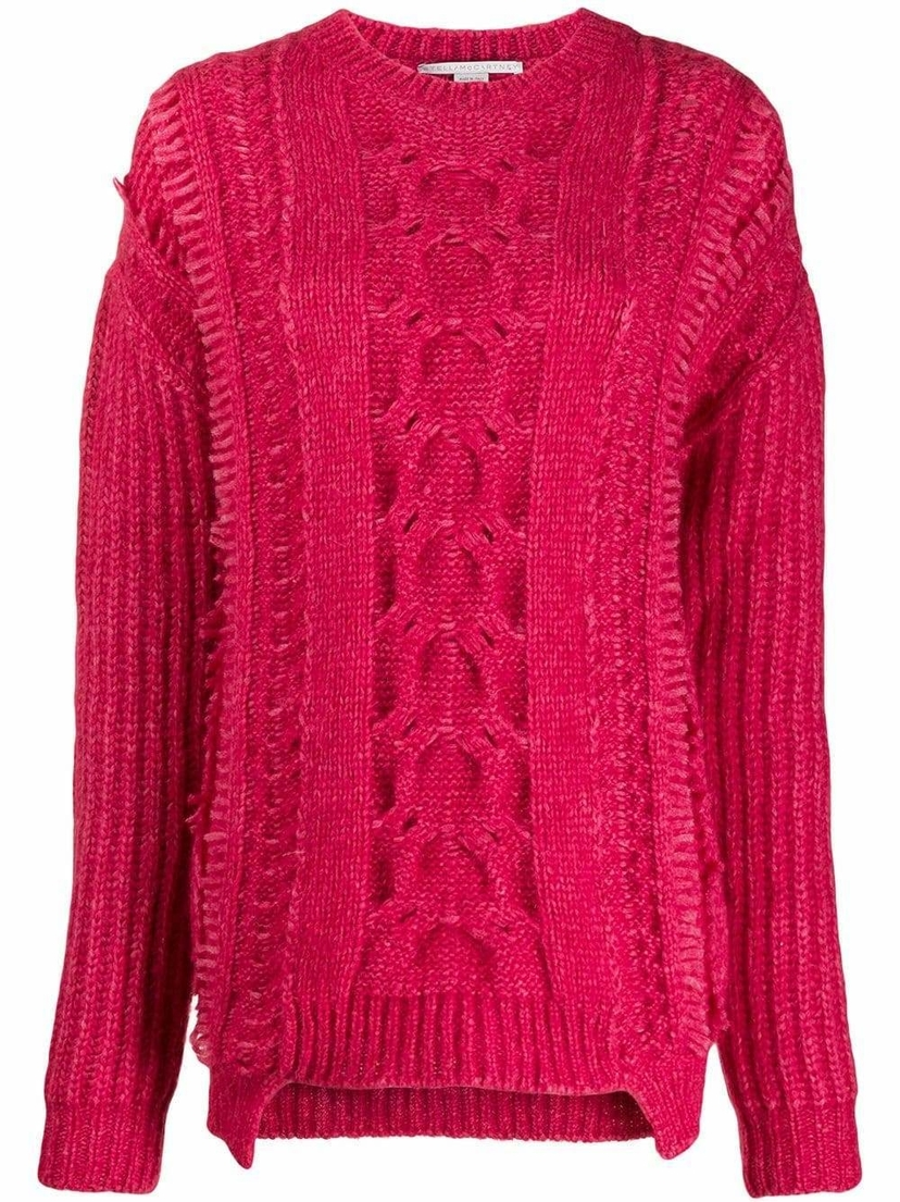 Stella McCartney Loose Fit Cable Knit Sweater Sale Tops