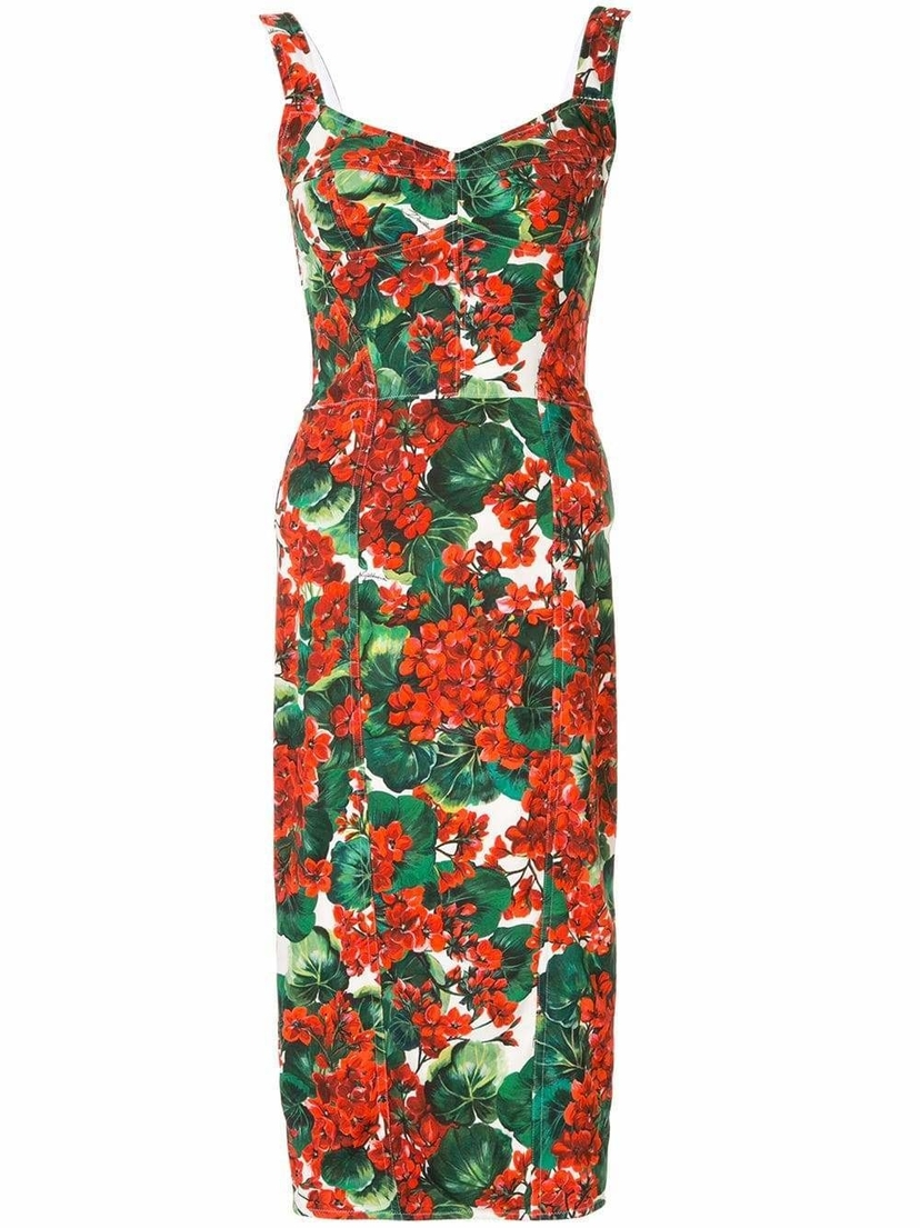 Dolce & Gabbana Bustier Fitted Midi Dress Dresses Sale