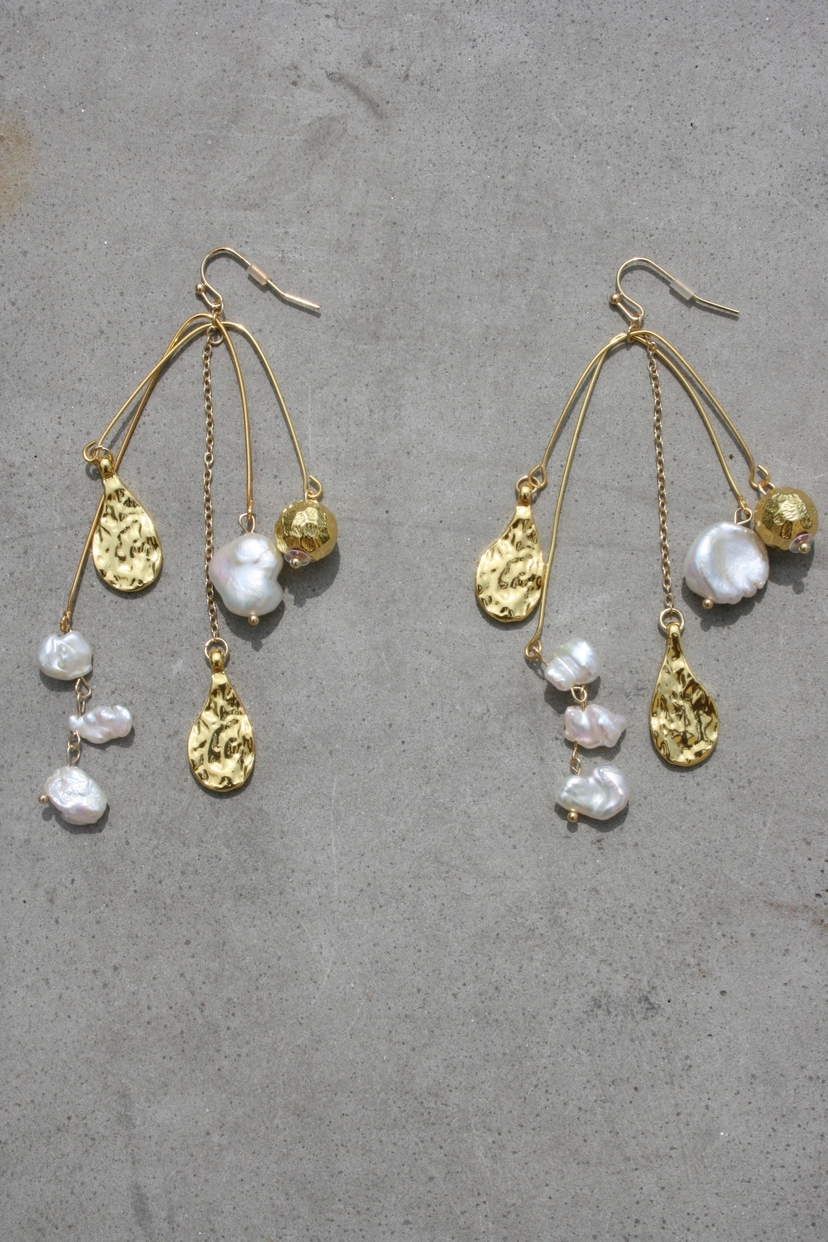 Amber Sceats AMBER SCEATS | Donatello Earrings - Pearl and Charm