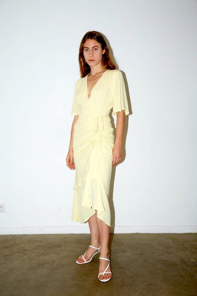 AERYNE AÉRYNE | Liotia Dress - Light Butter Yellow