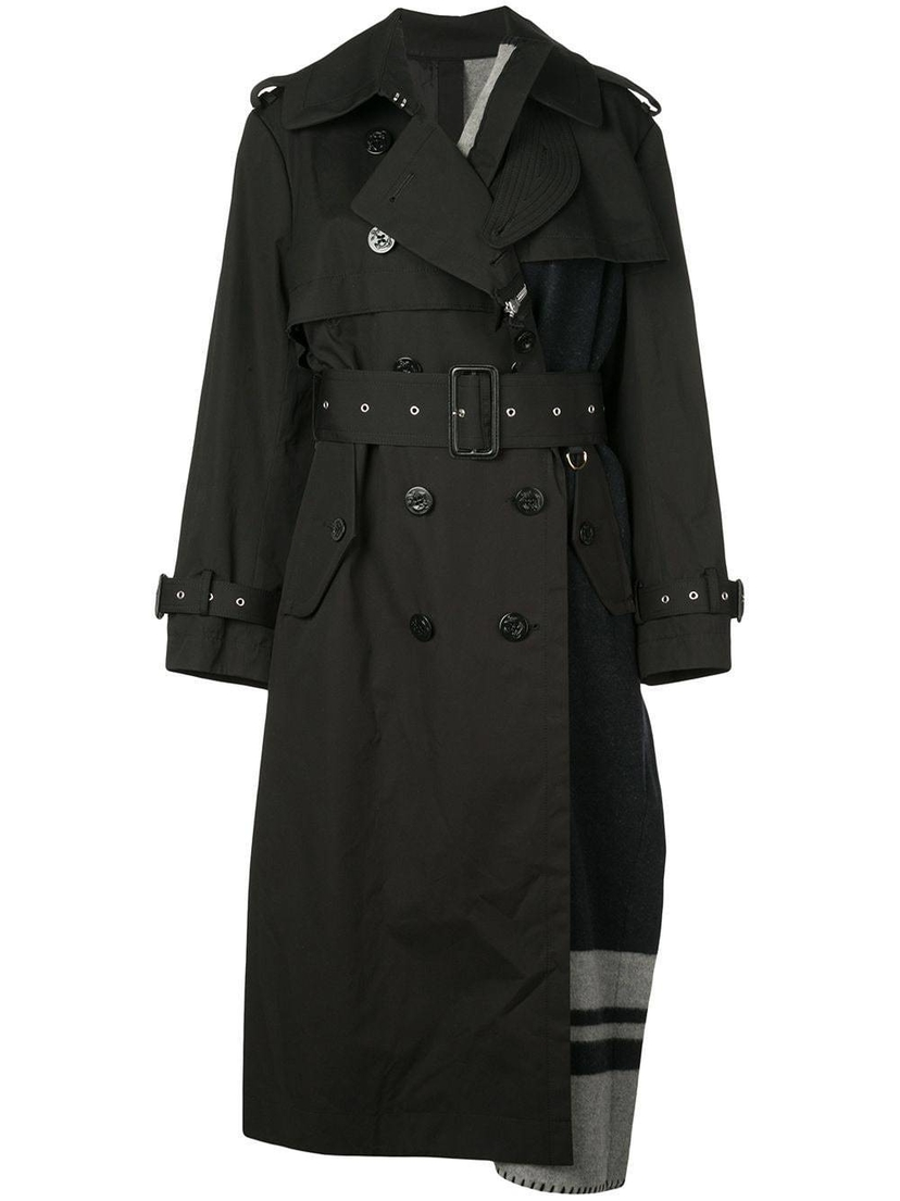 Sacai Oversized Blanket Trench Coat Outerwear Sale