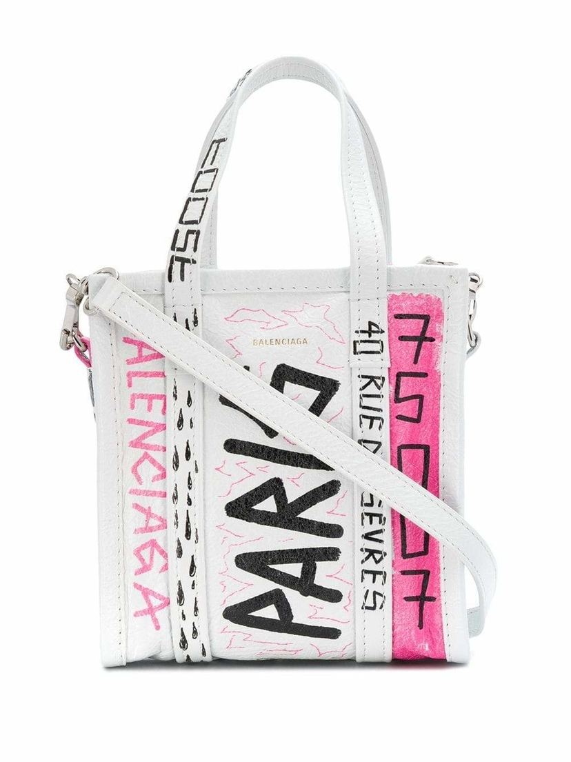 Kirna Zabête Bazar Shopper XXS Tote with Graffiti Bags Sale