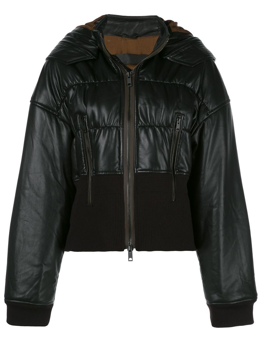 Haider Ackermann Cropped Leather Bomber Jacket Outerwear Sale