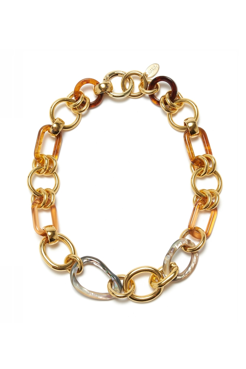 Lizzie Fortunato Abalone Link Necklace Accessories