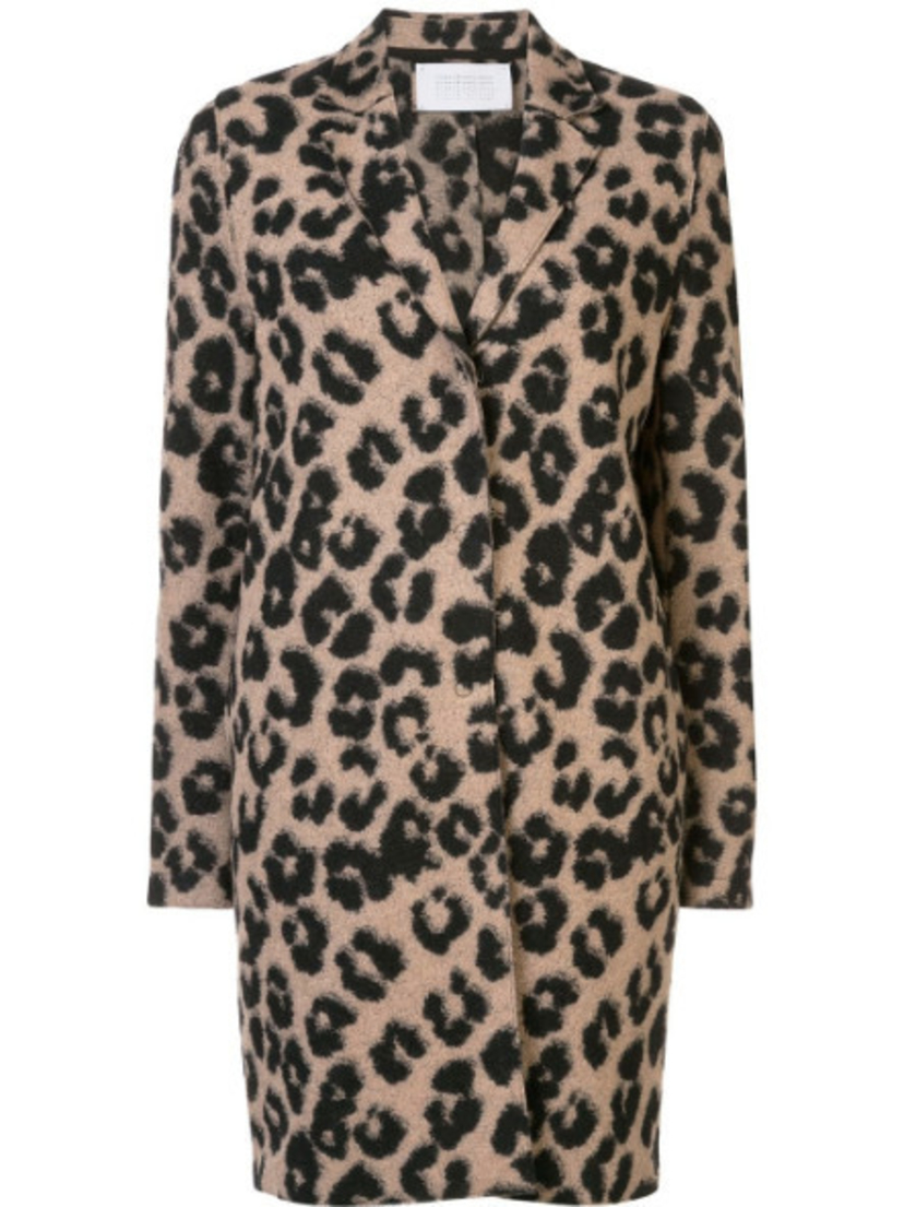 Harris Wharf London Cocoon Coat - Leopard Outerwear Sale