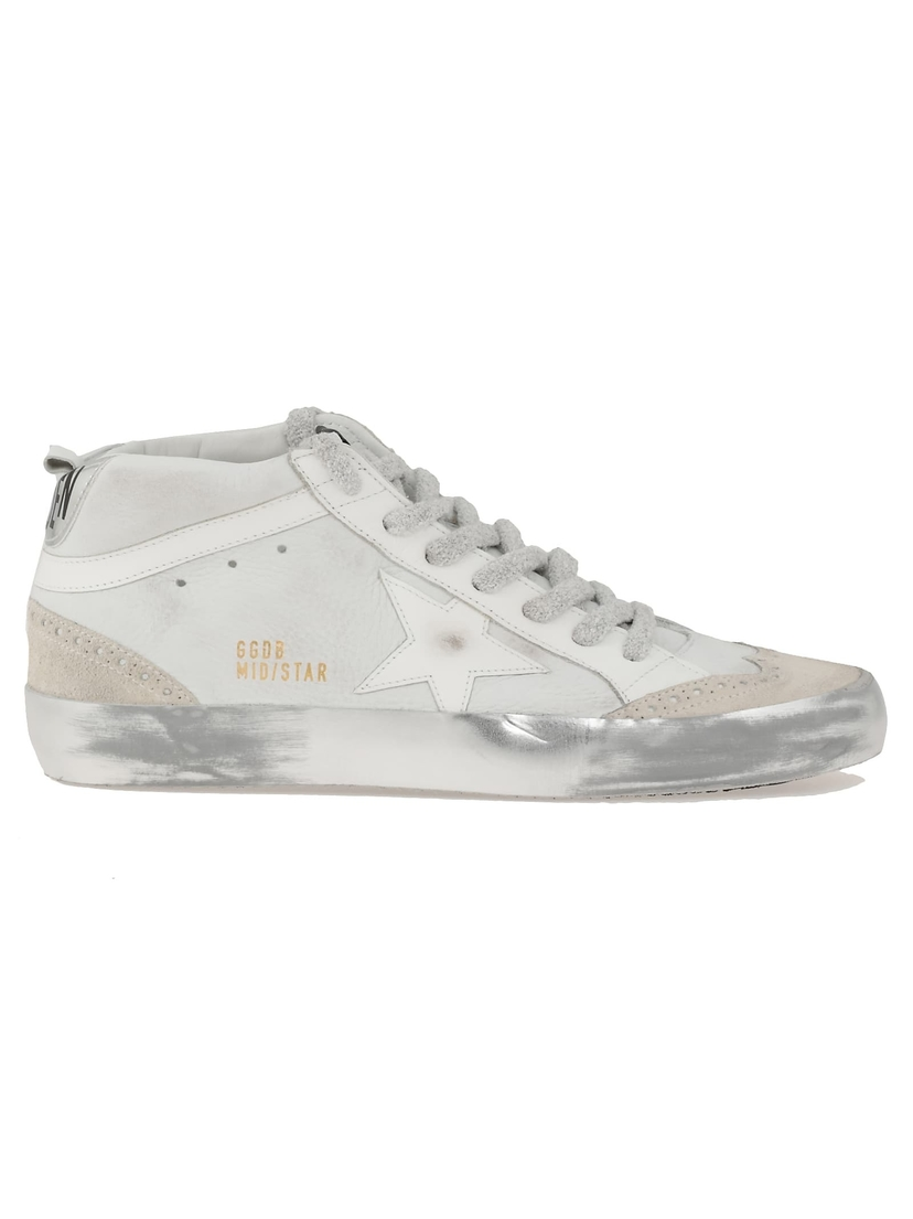 Golden Goose Deluxe Brand Mid Star Snow Nabuk Sparkle Sole Shoes