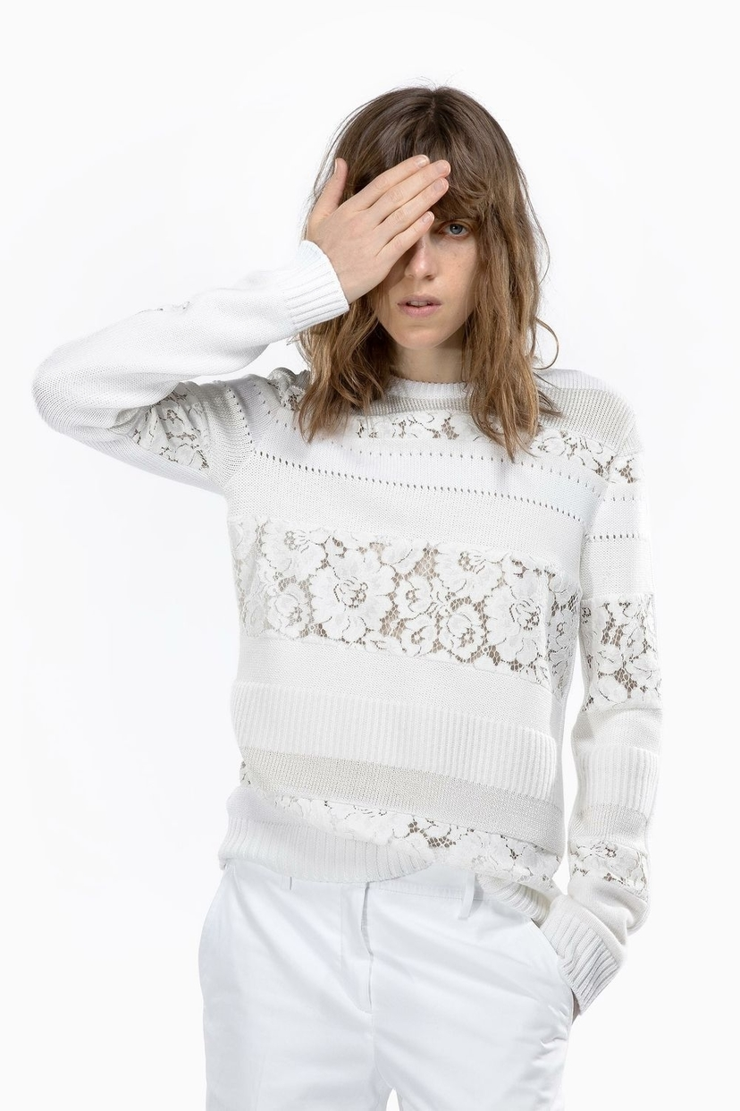 N°21 N.21 Lace Insert Sweater Tops