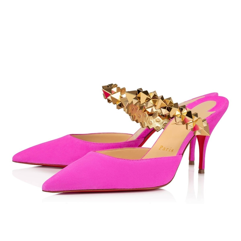 Christian Louboutin Planet Choc 80 mm - Fushcia Diva/Gold Shoes