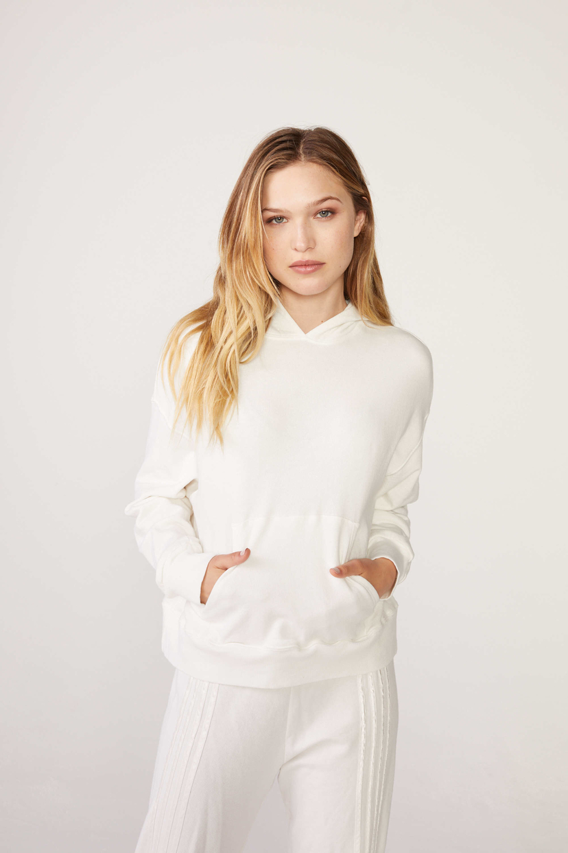 MONROW College Pullover with Silky Stripes Tops