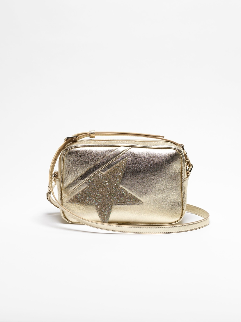 Golden Goose Deluxe Brand Star Bag in Gold Leather Accessories Bags