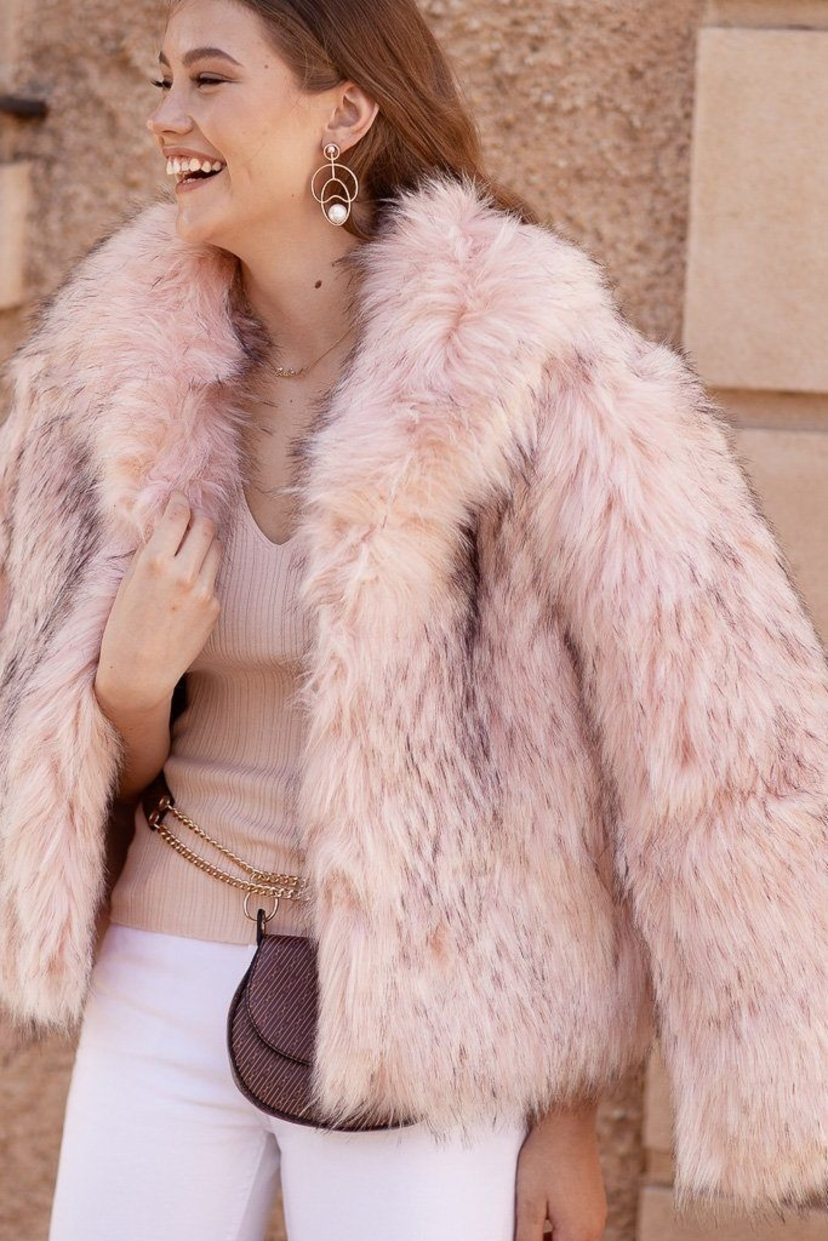 Bubish Bubish Faux Fur New York Pink Coat Outerwear Sale