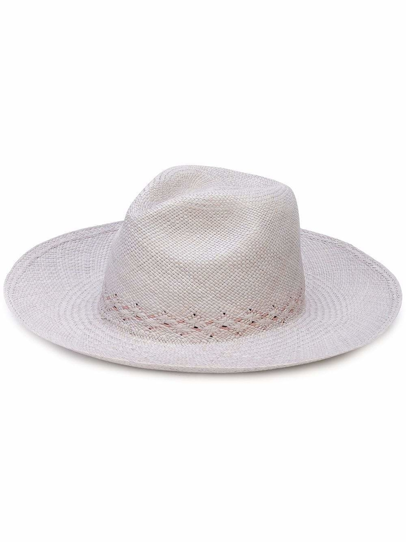 The Freya Brand Hibiscus Woven Panama Hat Accessories