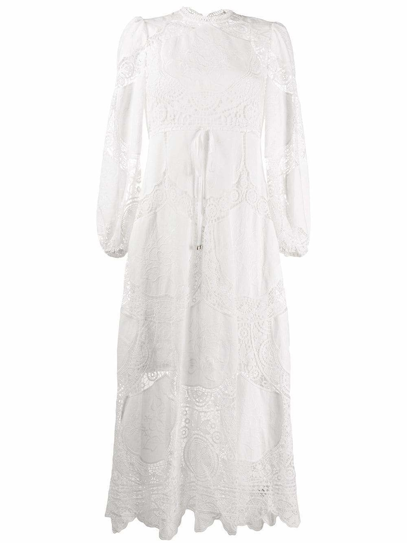 Zimmermann Bonita Eyelet Midi Dress Dresses Sale