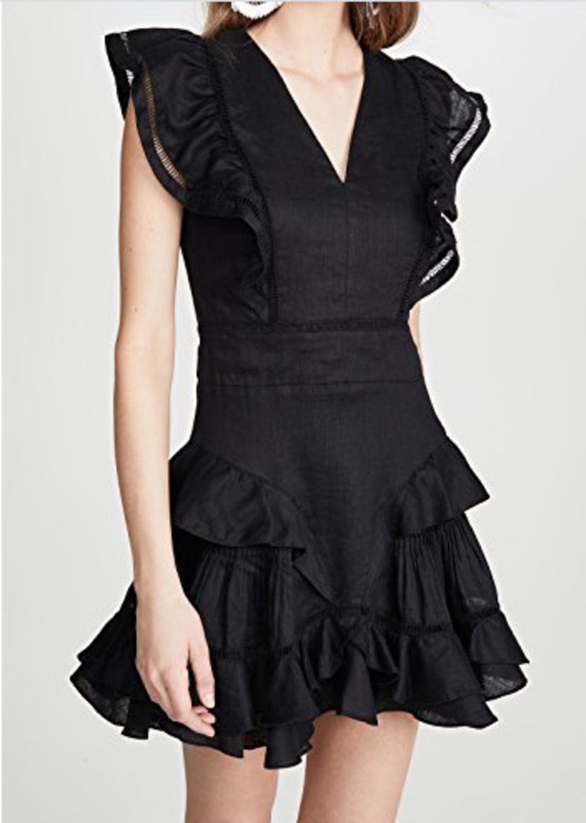 Isabel Marant Étoile Audrey Ruffle Mini Dress - Black Dresses