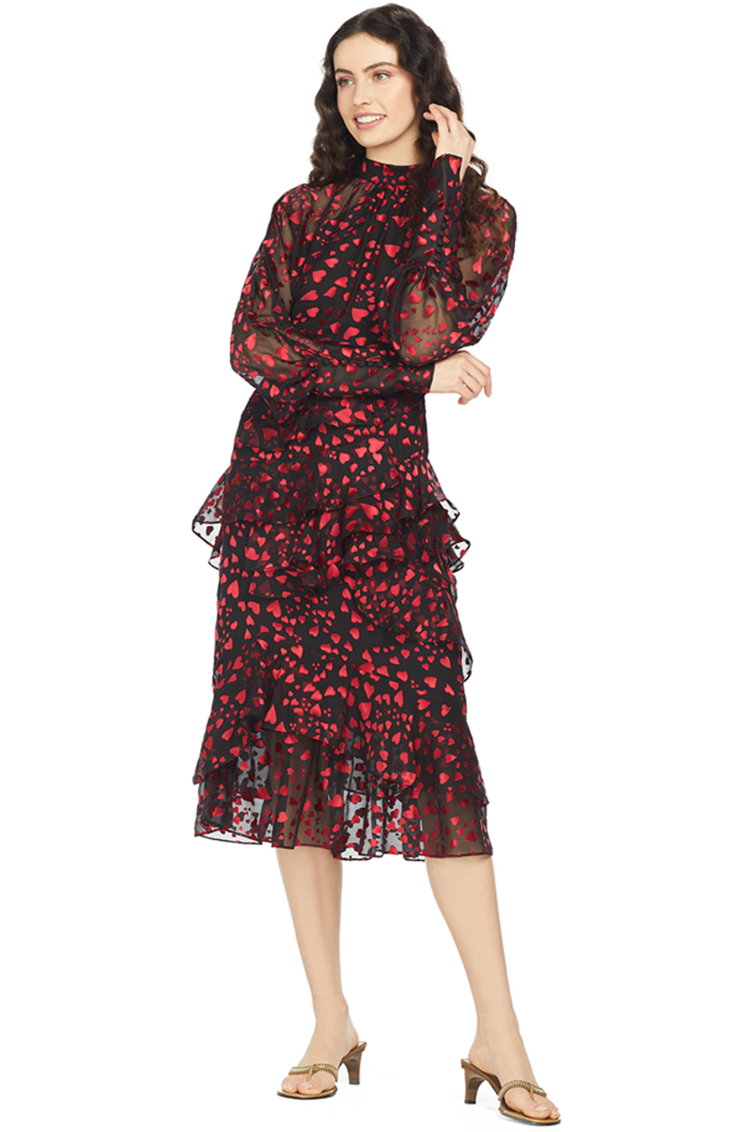 Saloni Alek B Dress (Hearts) Dresses Sale
