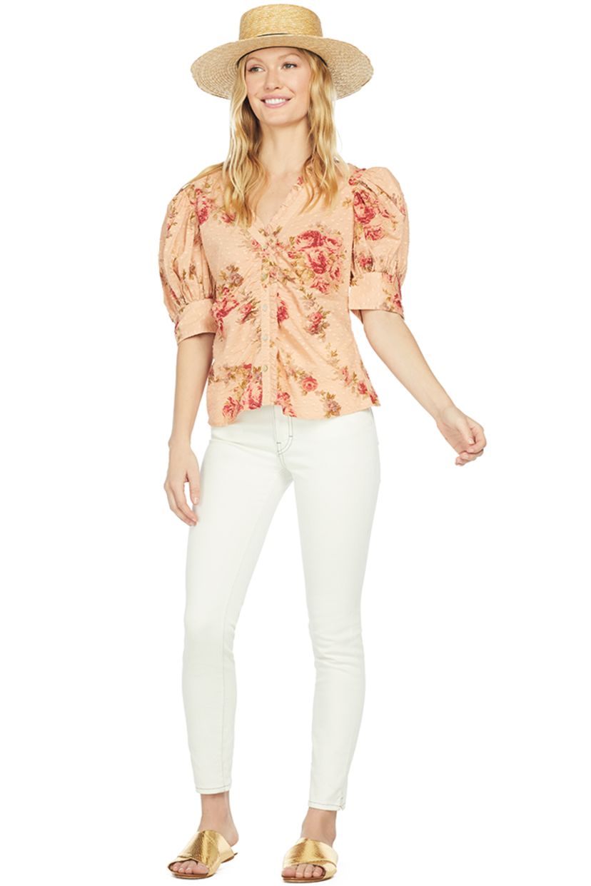 Loveshackfancy Jules Top (Pink Lemonade) Tops