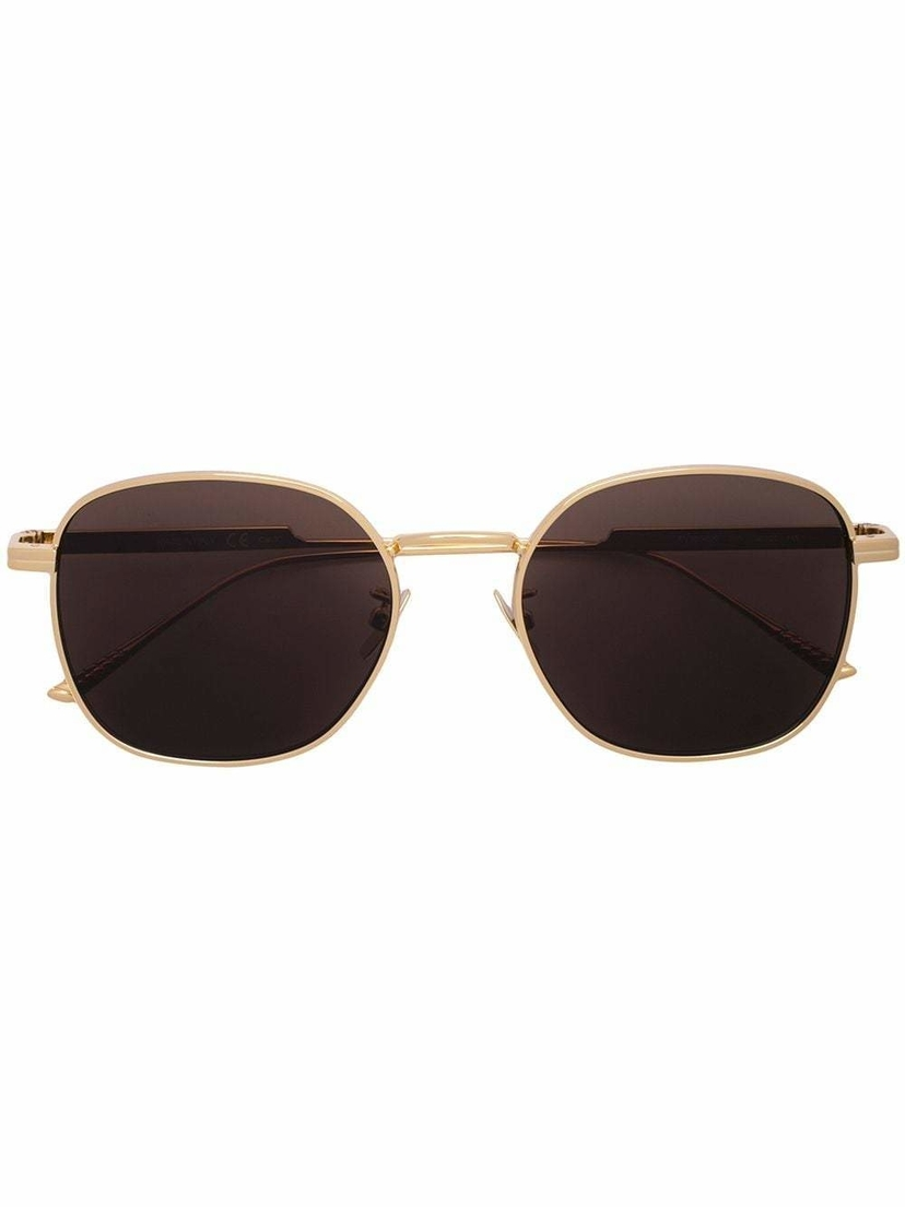 Bottega Veneta Square Round Gold Sunglasses Accessories